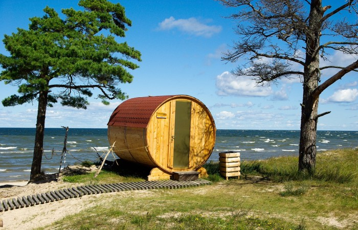Ideale Location fuer die Outdoor Sauna